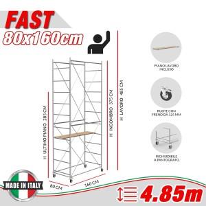 Trabattello FAST Altezza lavoro 4,85 metri