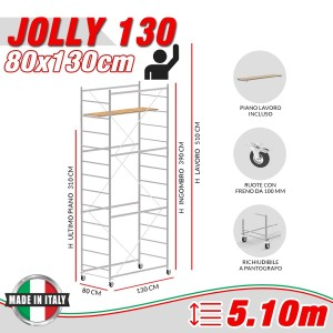 Trabattello JOLLY 130 Altezza lavoro 5,10 metri