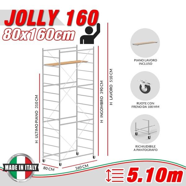 Trabattello JOLLY 160 Altezza lavoro 5,10 metri