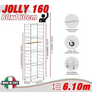 Trabattello JOLLY 160 Altezza lavoro 6,10 metri