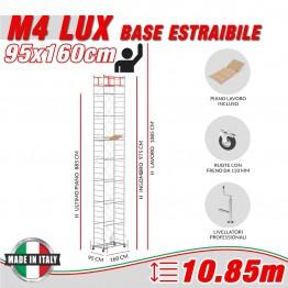 Trabattello M4 LUX base estraibile Altezza lavoro 10,85 metri