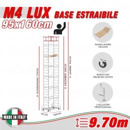 Trabattello M4 LUX base estraibile Altezza lavoro 9,70 metri