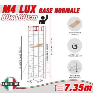 Trabattello M4 LUX base normale Altezza lavoro 7,35 metri
