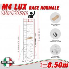 Trabattello M4 LUX base normale Altezza lavoro 8,50 metri