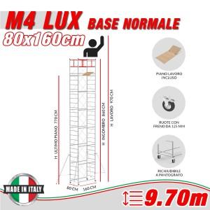 Trabattello M4 LUX base normale Altezza lavoro 9,70 metri