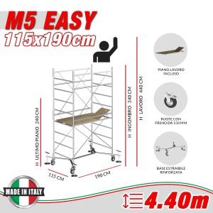 Trabattello M5 EASY Altezza lavoro 4,40 metri