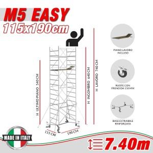 Trabattello M5 EASY Altezza lavoro 7,40 metri