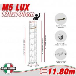 Trabattello M5 LUX Altezza lavoro 11,80 metri