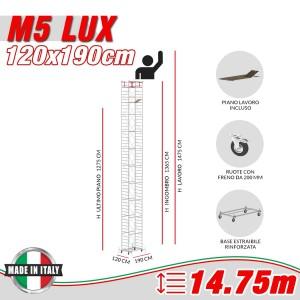 Trabattello M5 LUX Altezza lavoro 14,75 metri