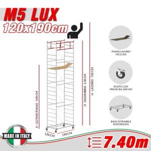 Trabattello M5 LUX Altezza lavoro 7,40 metri