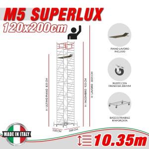 Trabattello M5 SUPERLUX Altezza lavoro 10,35 metri