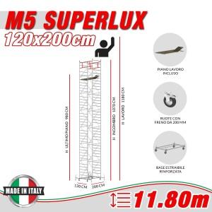 Trabattello M5 SUPERLUX Altezza lavoro 11,80 metri