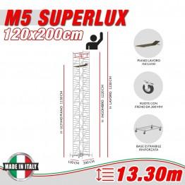 Trabattello M5 ITALY Altezza lavoro 13,30 metri