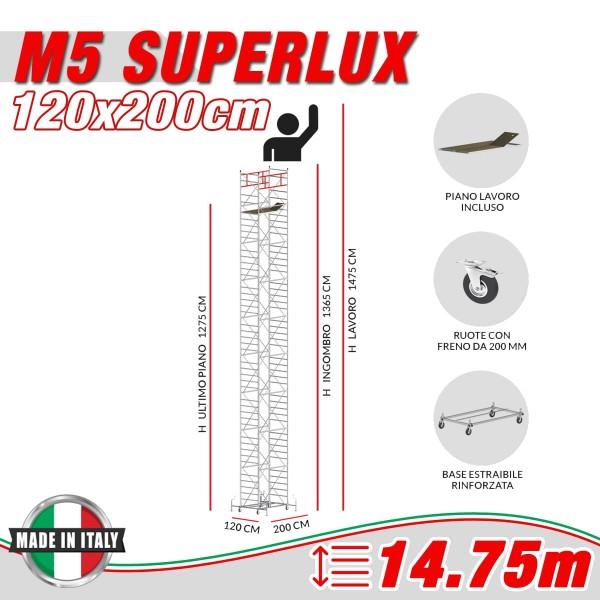 Trabattello M5 SUPERLUX Altezza lavoro 14,75 metri