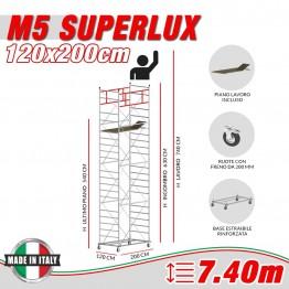 Trabattello M5 ITALY Altezza lavoro 7,40 metri