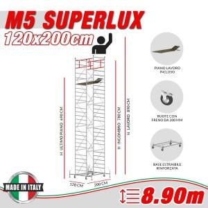 Trabattello M5 SUPERLUX Altezza lavoro 8,90 metri