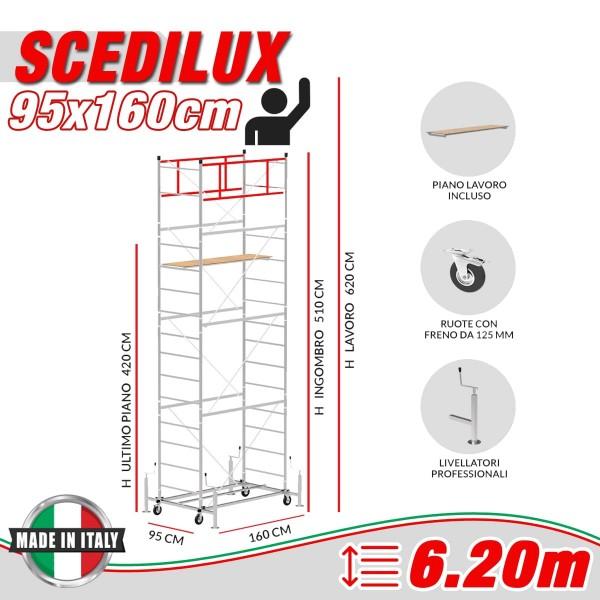 Trabattello SCEDILUX Altezza lavoro 6,20 metri
