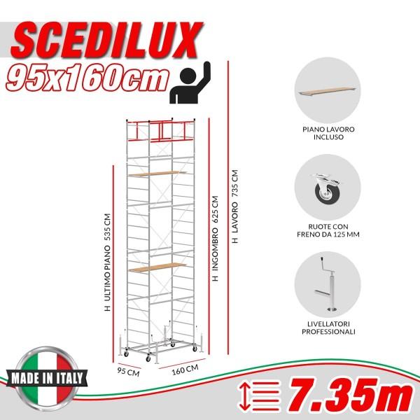 Trabattello SCEDILUX Altezza lavoro 7,35 metri