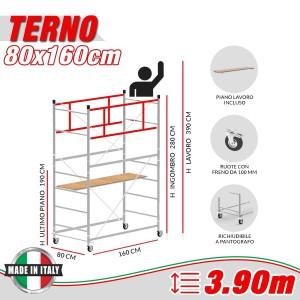 Trabattello TERNO-1 Altezza lavoro 3,90 metri