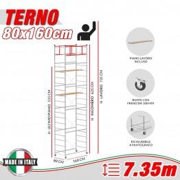Trabattello TERNO-1 Altezza lavoro 7,35 metri