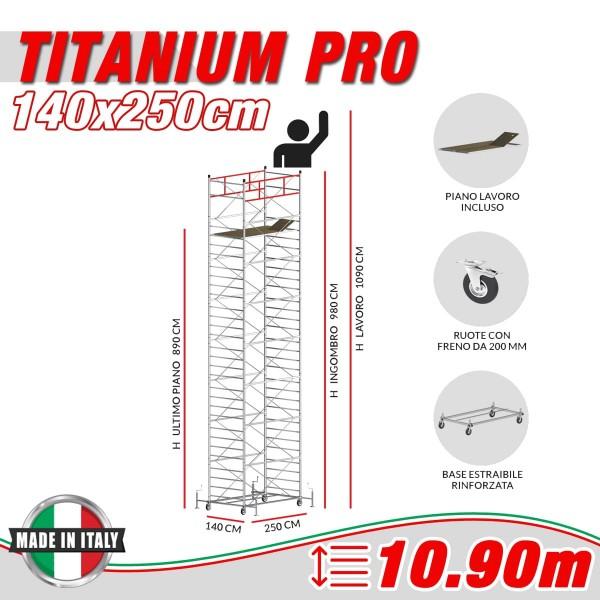 Trabattello TITANIUM PRO Altezza lavoro 10,90 metri
