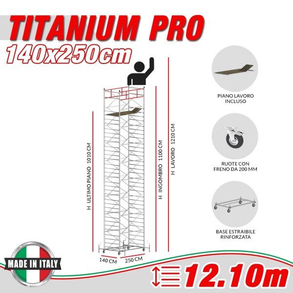 Trabattello TITANIUM PRO Altezza lavoro 12,10 metri