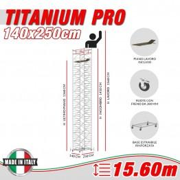 Trabattello TITANIUM PRO Altezza lavoro 15,60 metri
