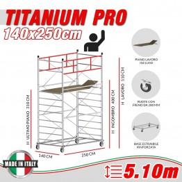 Trabattello TITANIUM PRO Altezza lavoro 5,10 metri