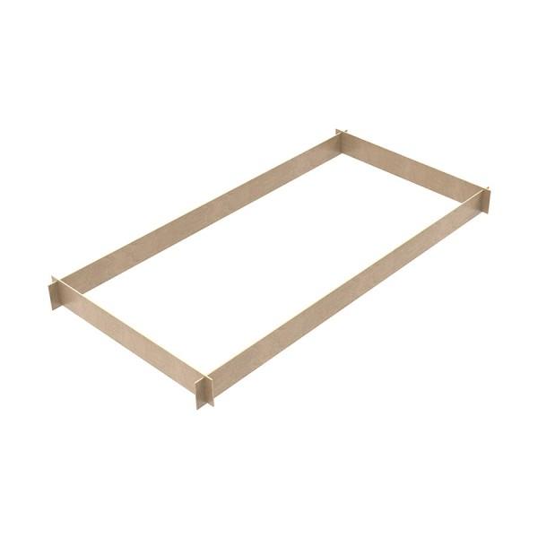 Fermapiede in legno 4 lati per linea M4 LUX e trabattelli semiprofessionali